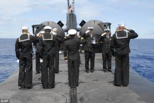Sinking Ship Indianapolis by Survivors The Crew Of Uss Ohio Salute During A Special