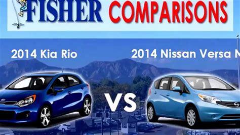 2014 Kia Rio Vs Nissan Versa Note