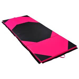 homcom folding yoga mat thick foam gym floor mats exercise