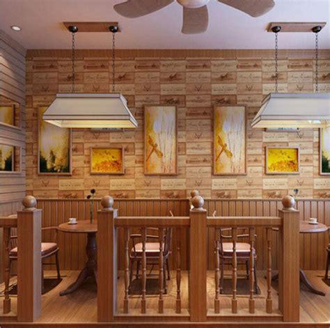 modern fashion  oak texture wallpaper roll restaurant