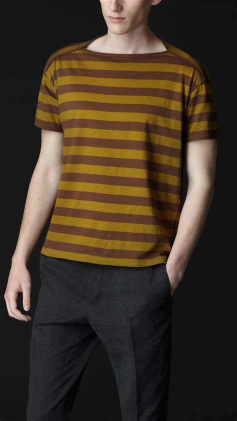 Boat Neck T Shirt For Mens by Burberry Prorsum Striped Boat Neck T Shirt S Fashion