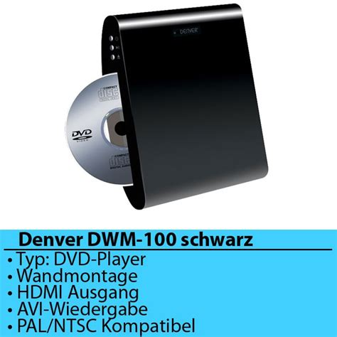 Player Wandmontage by Denver Dwm 100 Dvd Player Ebay