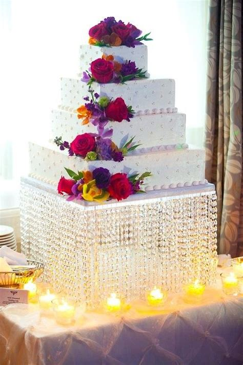 square crystal chandelier cake stand  centerpiece