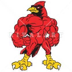 Muscle Cardinal Mascot Clip Art