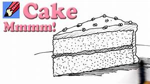 How to draw a Slice of Cake Real Easy - YouTube