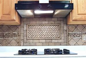 100 natural stone subway tile backsplash natural With kitchen cabinets lowes with martin luther king wall art