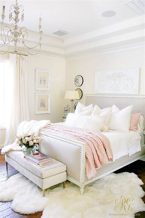 glam blush gold spring bedroom randi garrett design