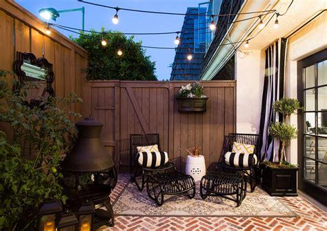 ten tips  rundown rental  chic starter home patio