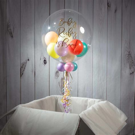 Personalised Pastel Balloon Filled Bubble