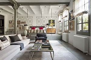Industrial modern style loft in New York with cozy interiors