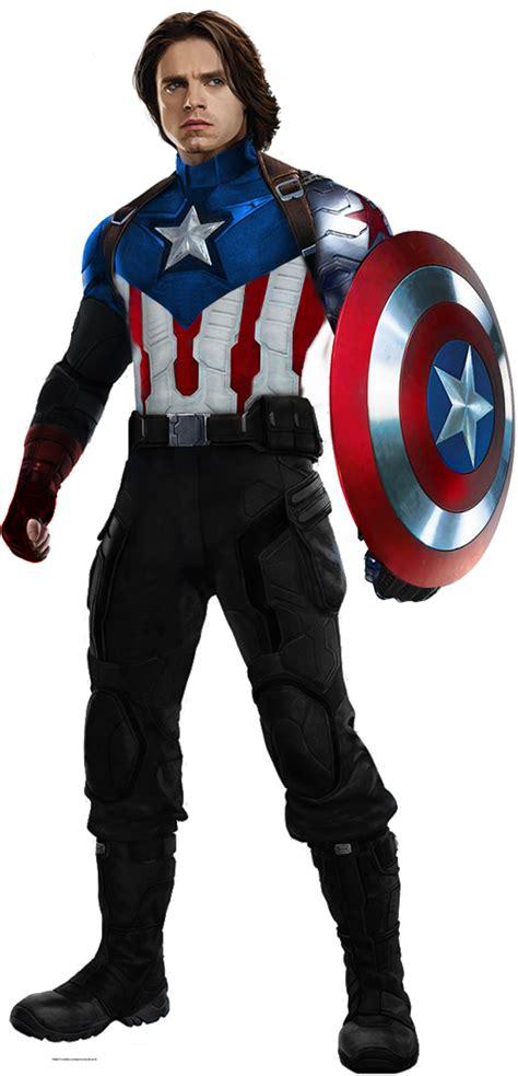 bucky barnes captain america captain america bucky barnes with metal arm by hb