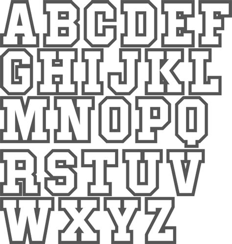 block letters font template business