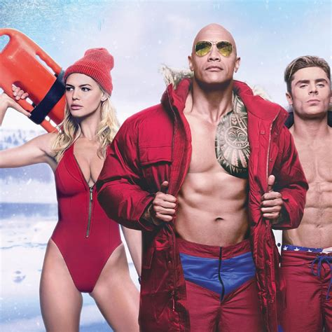 Baywatch Zac Efron Dwayne Johnson And Kelly Rohrbach, Full