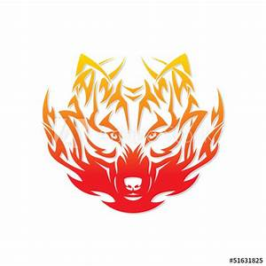 U0026quot, Fire, Wolf, U0026quot, Stock, Image, And, Royalty