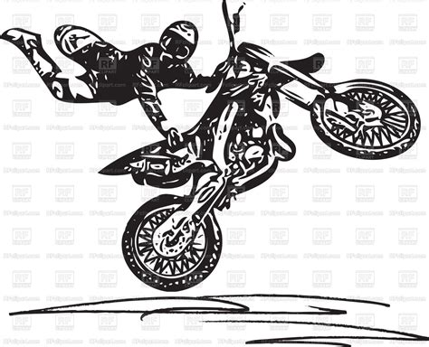 Extreme Motocross Racer By Motorcycle Vector Image Of