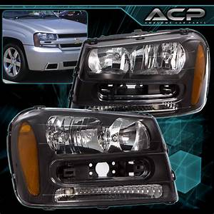 Black Headlights Headlamps Assembly Lh Rh W   Amber For 02