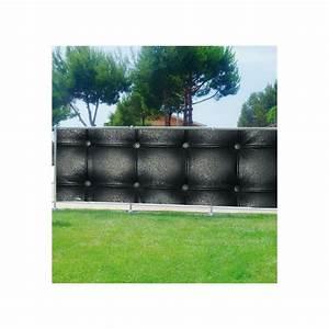 Brise Vue Décoratif : brise vue d co capitonn noir art d co stickers ~ Nature-et-papiers.com Idées de Décoration