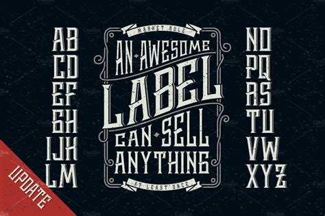 whiskey label font design elements stunning display