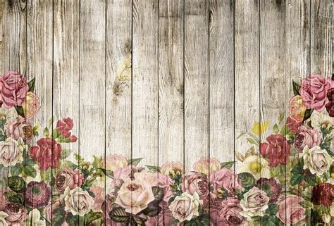 wooden wall roses background  image  pixabay