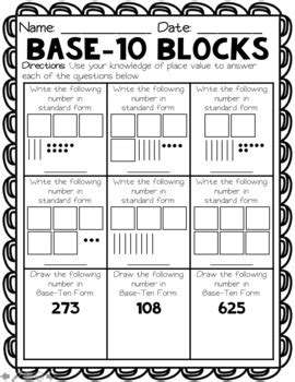 ways  assess series place  worksheets