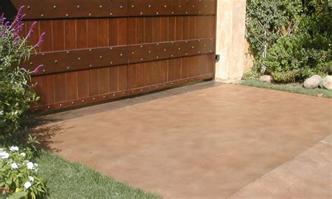 outdoor concrete patio paint ideas landscaping