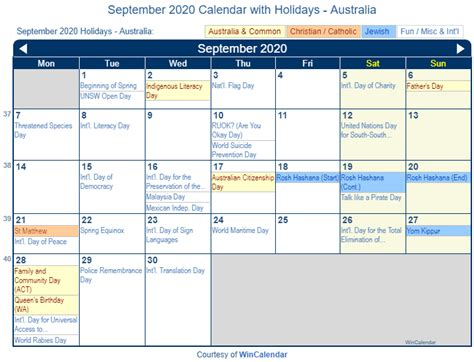 print friendly september australia calendar printing