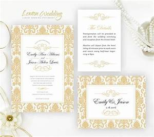 damask wedding invitation kits cheap wedding invitations With cheap wedding invitations 50p