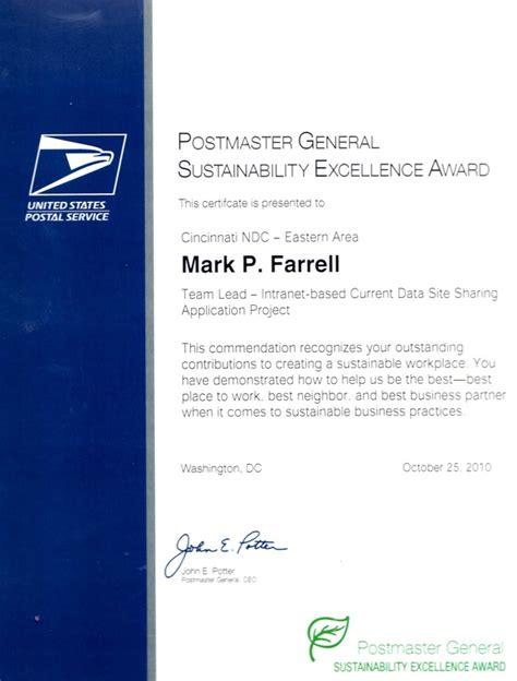 Beta Gamma Sigma Honor Society On Resume by U S Postmaster General Award P Farrell S E Resume