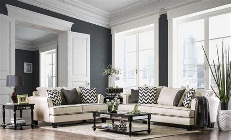 percey  white living room set  furniture  america