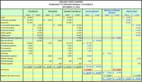 accounting worksheet accounting spreadshee accounting
