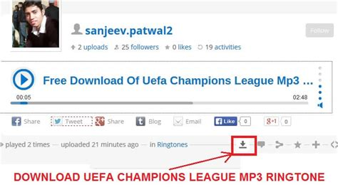 Download Uefa Champions League Theme Song Mp3 Ringtone