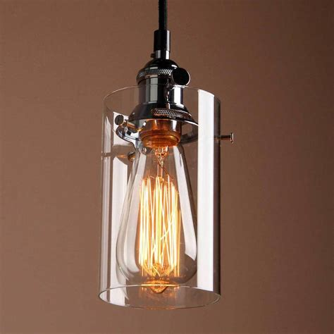 cylinder glass lighting pendant by unique s co