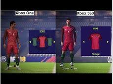 FIFA 18 Xbox One VS Xbox 360 Portugal VS France GRAPHIC