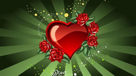 rose amour saint valentin en forme de coeur fonds decran