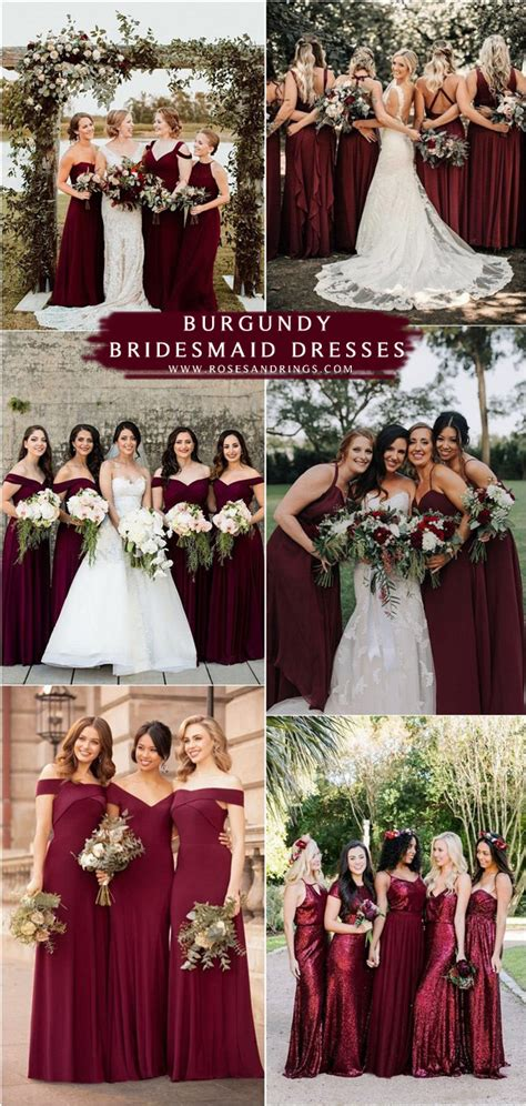 top  burgundy wedding color ideas   roses rings
