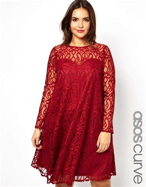asos curve swing dress 15 plus size dresses for valentines day