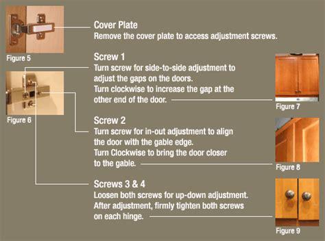 How To Adjust Kitchen Cupboard Doors by How To Adjust Kitchen Cabinet Hinges Opendoor