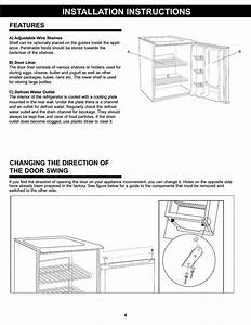 Installation Instructions  Features  Changing The