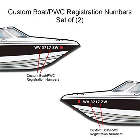 Boat Registration Oman by Custom Made Vinyl Boat Pwc Boat Registration Numbers Set