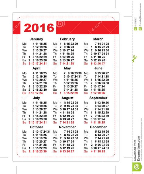pocket calendar template grid vertical orientation days