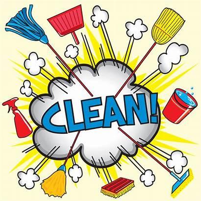 Clipart Clean Cleaning Supplies Cleaner Cartoon Chores