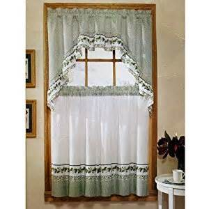 amazon com ivy print 36 quot swag kitchen curtain set by