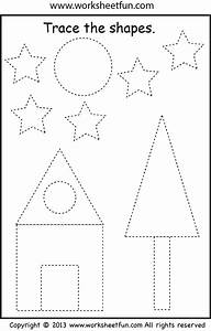 Picture Tracing – Shapes – Two Worksheets / FREE Printable ...  Tracing
