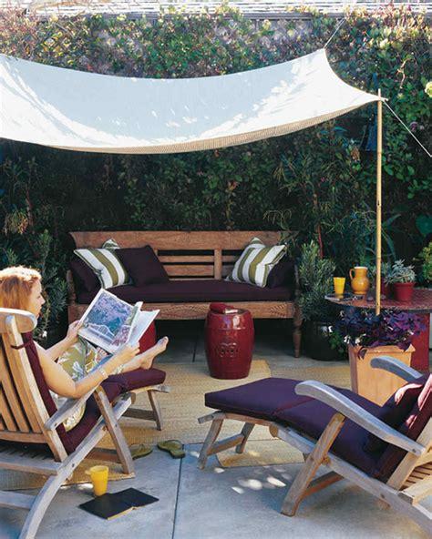 Diy Backyard Canopy by A Slice Of Shade Creating Canopies Martha Stewart