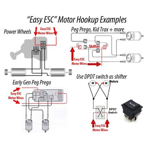 Peg Perego Shifter Wiring Diagram by Eastcoast Powerup Quot Easy Esc Quot 12v Or 24v Launch