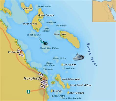 Karte ägypten Rotes Meer