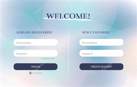 Ui Elements, Login Form And Registration Form, Strict
