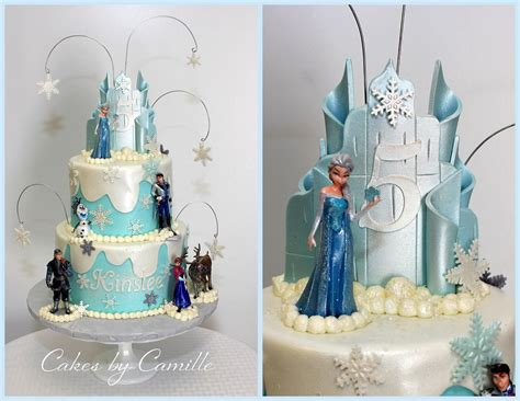 Disney Frozen Birthday Cake, Ice Castle Topper, Cakes By