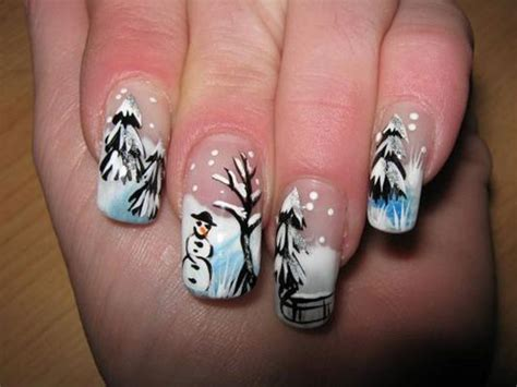 Nail Art Winter : 15 Cute & Inspiring Winter Nail Art Designs & Ideas 2012