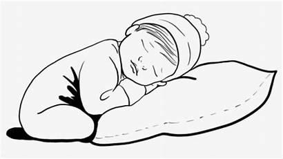 Sleeping Sleep Newborn Coloring Bambino Clipart Cartoon